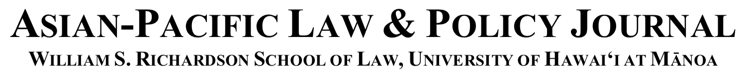 Asian-Pacific Law & Policy Journal