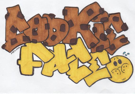 """Cookie Face"" lettering design by one of Refa One's workshop participants."