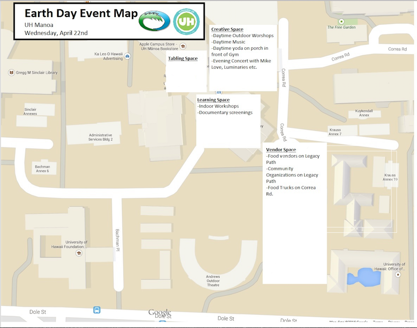 Earth Day Campus Map