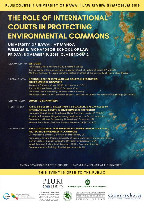 PluriCourts and Hawai'i Law Review Symposium