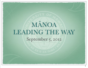Manoa presentation