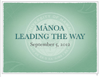 Manoa slide