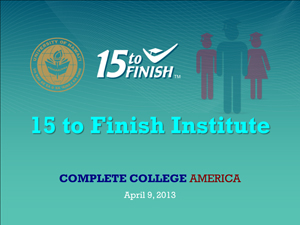 15 to Finish Institute title slide