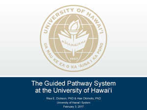 Title slide for Guided Pathway System at UH