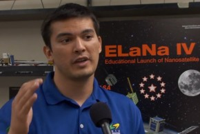 [VIDEO] Satellite built by UH students headed to space