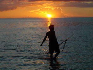 Spear fisherman