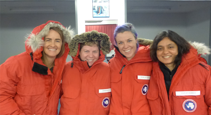 ANSMET researchers in cold weather gear