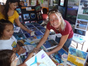 Graduate Student Jonatha Giddens at the Hilo Ocean Day outreach event.