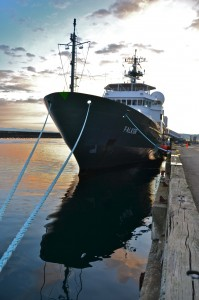 R/V Falkor at dock