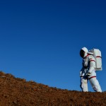 Astronaut walks