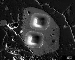heterogeneous apatite grain in Apollo sample