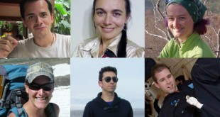 Top row, from left: Tristan Bassingthwaighte, Sheyna Gifford and Christiane Heinicke. Bottom row, from left: Carmel Johnston, Cyprien Verseux and Andrzej Stewart. (Photos: University of Hawaii)