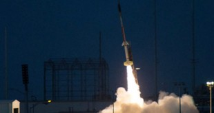 A two-stage Terrier-Improved Malemute sounding rocket launched on August 12, 2015.