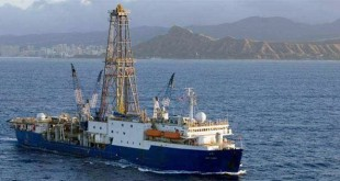 IODP's JOIDES Resolution has recovered PETM sediment cores during past expeditions. (photo credit: IODP)
