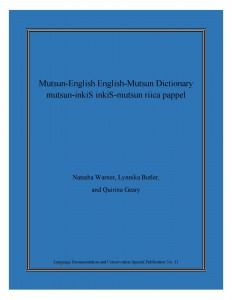 Mutsun English Dictionary
