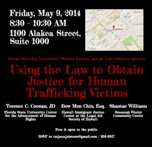 Human Trafficking Presentation May 9 2014