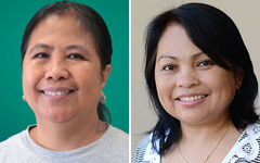 Herminia Esteban and Mercedita Reyes headshots