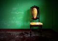 Art Pascua photograph of a chair on a green background