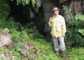 Man in front of South Korea cave