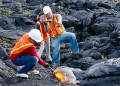 Hilo students visit an active lava flow