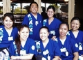 group of nursing students in scrubs