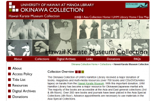 Hawaii karate Museum Collection Website at UH Manoa