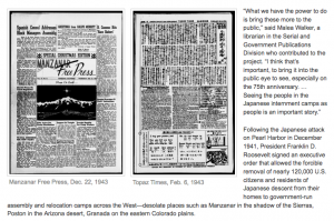Image of a newspaper published by the Japanese Americans in the Internment Camp