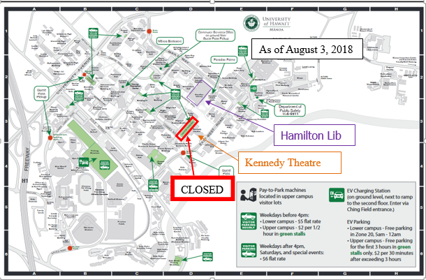 UH Manoa Parking Map