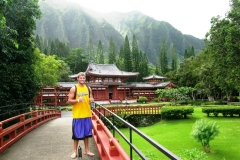 Blaine at Byodo-in