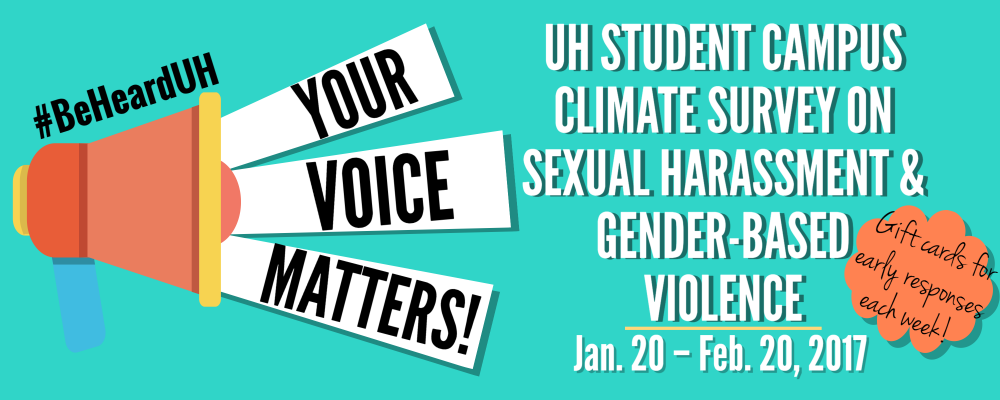UH Student Campus Climate Survey Banner