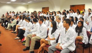 Med students at legislative session