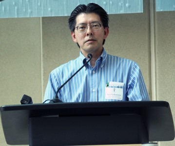 Kenneth Nakamura, MD, addressing the audience.