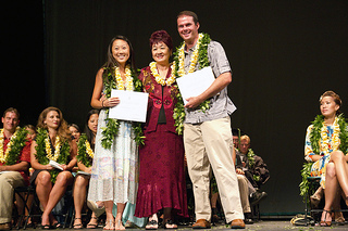 Susan Foo with Dr. Erina Matsumoto and Dr. Zachary Thielen