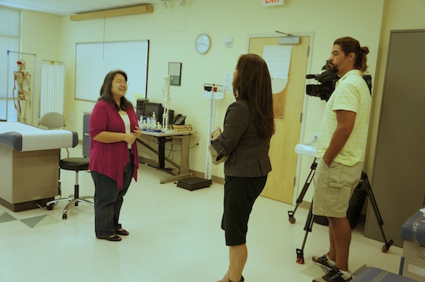 Teri Okita interviews Dr. Sheri Fong in the Loui Lab at JABSOM Kaka`ako.