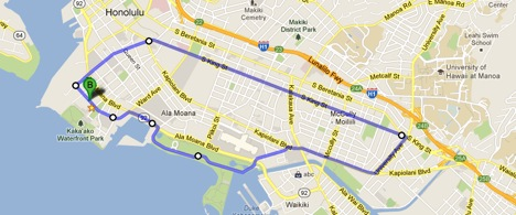 The HOME bike ride route