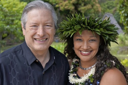 JABSOM Dean Jerris Hedges, MD with Dr. Maile Taualii.
