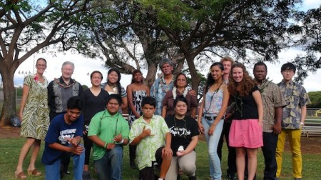 Photo by Daniel Imhoff, of participants in the Moloka`i event.