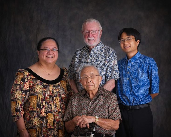 Four generations of JABSOM Psychiatry leaders: Walter Char, MD founding chair of section; Jack McDermott, MD, founding department chair, Naleen Andrade, MD, Anthony Guerrero, MD