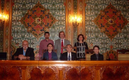 The scientific team in Istanbul in November 2011. Moisyadi is front, left. Yanagimachi is third from left.
