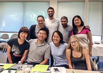 Sept 8 Morning Team, Top Row: Marina Hitosui-Levesque, Student Calling Trainer Zachary Acker, Aniket Natekar, Jennifer Nakamatsu, Bottom Row: Diep Vuong, Michael Wu, Lauren Oshima, Scarlett Johnson