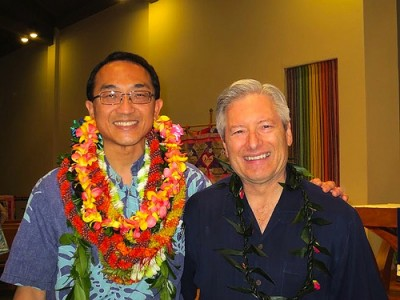 Dr. Chow with Dean Jerris Hedges at the ceremony.
