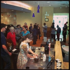 200 people sampled coffee at Cafe Waiola by the Curb on Friday, Dec. 20. The restaurant opens for business Dec. 23, Monday-Friday 7 a.m.- 6 p.m.