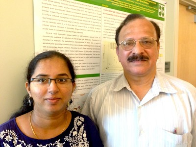 Dr. Madhur Namekar, first author on the paper, with co-author and Department Chair Dr.                                                                                                 Vivek Nerurkar.