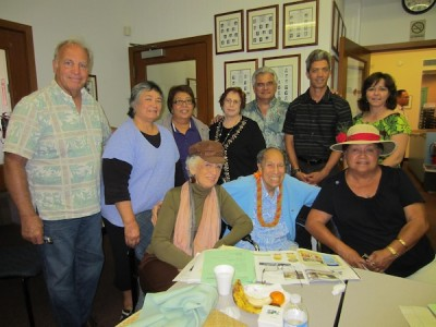 "The board of Papa Ola Lokahi also issued a statement of loss, calling Director Fuddy a ""pillar of support."" Papa Ola Lokahi includes Native Hawaiian Health organizations and the UH. Standing L-R: Hardy Spoehr (POL executive director), Loretta Hussey, Analika Nahulu, Loretta Deliana Fuddy, David Lovell, Kilipaki Vaughan & Michelle Malia Hiraishi (executive director of Native Hawaiian Health Care System on Island of Hawai'i).  Seated L-R:  Betty Jenkins, Kekuni Blaisdell, MD & Vivian Ainoa."