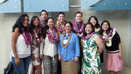 The FM residents posing with Dr. Bueconsejo-Lee and Dr. Jill Omori.