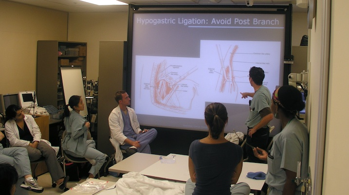 OB-GYN residents training at the University of Hawai`i medical school in 2011.