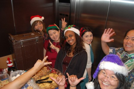 Office of Medical Education Elves take a S-elves-ie.