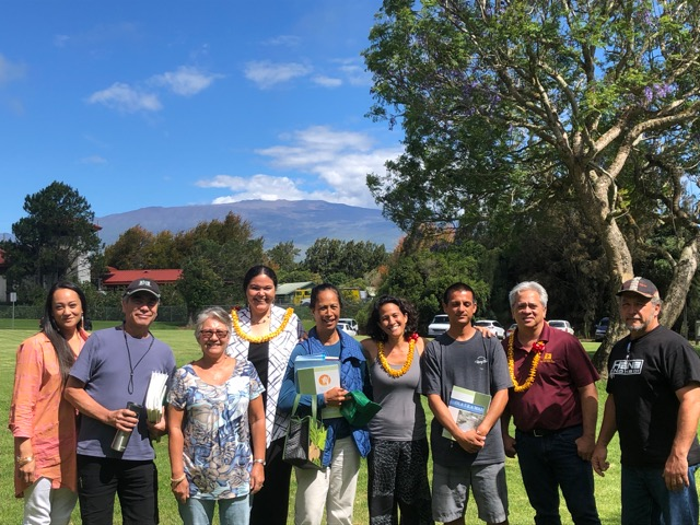 DHHL beneficiaries gathered after the event in Waimea for a group photo